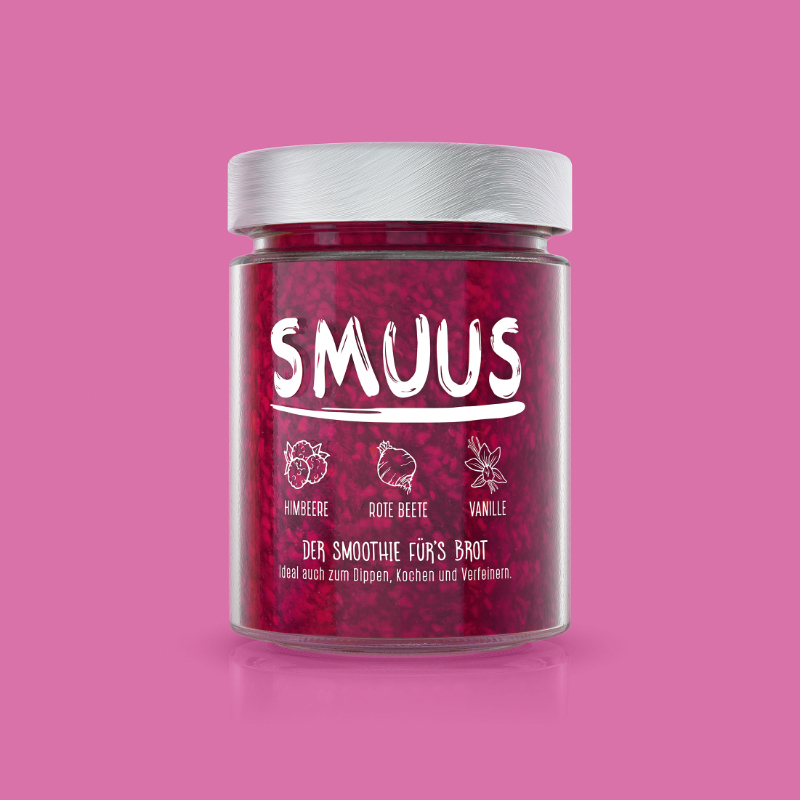 SMUUS Himbeere - Rote Beete - Vanille 280g
